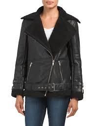 erin faux fur leather jacket leather faux leather t jxx
