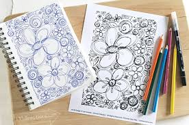 hearts and flowers coloring page 100 directions