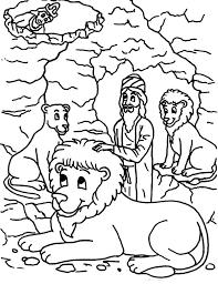 coloring page lion king darius put daniel into lions den in daniel and the lions den