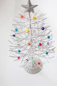 tree bare branch glitter silver metal tree