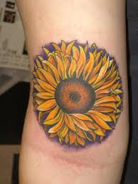 small sunflower tattoo on wrist in 2017 real photo pictures