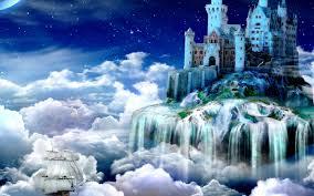 fairy tale castle on a small island walldevil