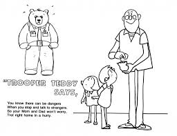printable coloring pages stranger safety coloring sheets for for
