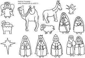 nativity printable great to color or even frame turn into a for