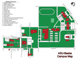 University Of Arkansas Campus Map Arkansas State University Beebe Campus Map 1000 Iowa Street