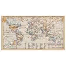 World Map Antique by Wall Maps