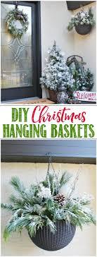 christmas hanging baskets with lights diy christmas hanging baskets clean and scentsible