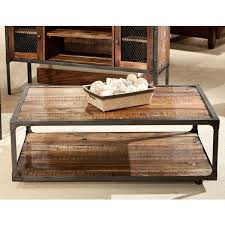 Caster Coffee Table Emerald Laramie Reclaimed Look Wood Cocktail Table With Casters