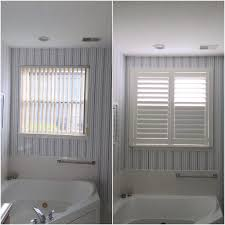 asap blinds before u0026 after photos of white plantation shutters