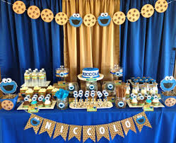 cookie monster table decorations birthday party ideas birthday party desserts cookie monster and