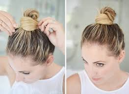 different hairstyles in buns 7 cool and easy buns that work for short hair byrdie