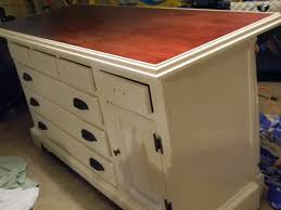 Build Kitchen Island by Remodelaholic From Dresser To Kitchen Island