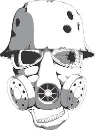 skull with gas mask by wandrevieira1994 on deviantart