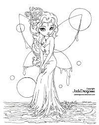 water fairy lineart by jadedragonne on deviantart color me