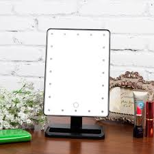 portable makeup vanity with lights ovonni 20 led touch screen makeup mirror portable cosmetic