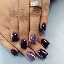 12 beautiful dark nail polish ideas dark blue nails accent