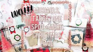 huge christmas craft haul target one spot michaels 2017
