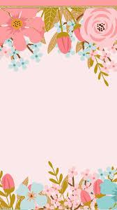 pink flowers frame card creative cards flower