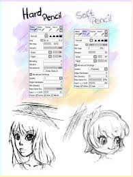 2 pencil brushes paint tool sai by ichigoarts on deviantart