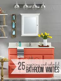 what paint is best for bathroom cabinets remodelaholic 25 inspiring and colorful bathroom vanities
