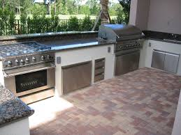Outdoor Kitchen Ideas Pictures L Shaped Outdoor Kitchen Ideas Black Metal Bar Stools Grey High