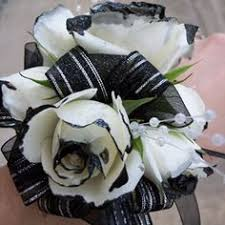 and black corsage white flowers with black tips in corsage yahoo image search