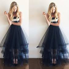 navy blue prom dress long prom dress 2017 evening gown tulle