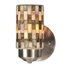 Mosaic Wall Sconce Springdale Lighting Kalmia 1 Light Brushed Nickel Mosaic Wall