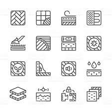 Floor And Decor Credit Card Set Line Icons Of Floor Stock Vector Art 521798876 Istock