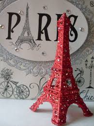 beaded eiffel tower cake topper ornaments showers