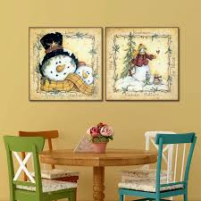 2pcs set lovely snowman family decoration wall