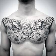collection of 25 upperchest tattoos
