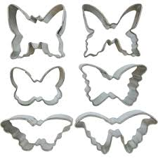 mini butterfly cookie cutter set tin