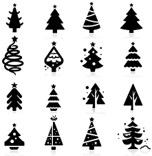 silhouettes christmas trees set vector vector christmas free