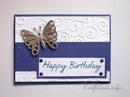 birthday cards to craft for all seasons embossed card with butterfly