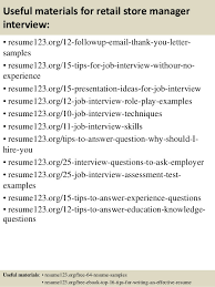 resume for retail store cover letter