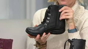 clarks womens boots qvc clarks suede or leather water proof lace up boots kearns sirena