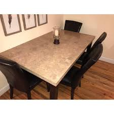 bob u0027s 5 piece marble dining set aptdeco