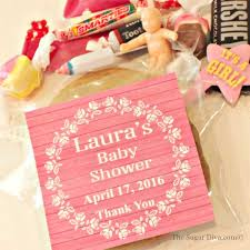 baby shower favor bags cellophane favor bags personalized baby shower cookie bags with
