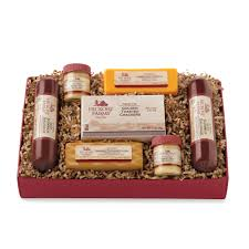 summer sausage gift basket summer sausage in a beef hearty hickory gift box purchase our