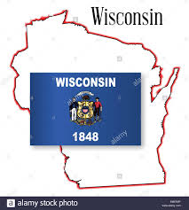 Wisconsin State Map by Wisconsin State Map And Flag Stock Vector Art U0026 Illustration