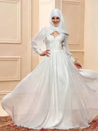 islamic wedding dresses sweetheart neckline applique a line floor length muslim