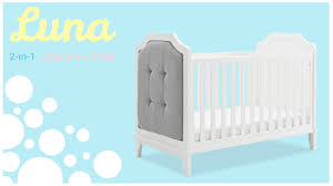 dorel living baby relax luna 3 in 1 upholstered crib white