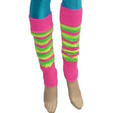 40cm costume legwarmers from story florescent striped