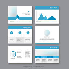 business presentation template stock vector of business