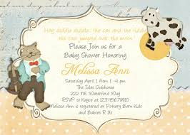 nursery rhyme baby shower nursery rhyme baby shower invite nursery rhyme baby shower