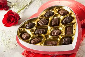 chocolates for s day fancy box of gourmet chocolates for s day stock photo