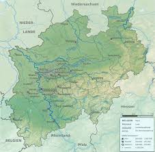 Europe Map Physical by Physical Map Of North Rhine Westphalia 2009 Full Size