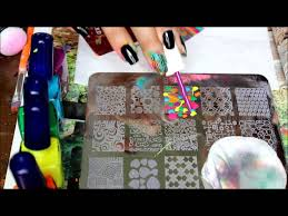 nail stamping multi color stamping design w myonline shop plate
