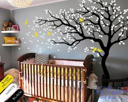 White Tree Wall Decal Nursery White Tree Wall Decal Nursery Tree And Birds Wall Ba